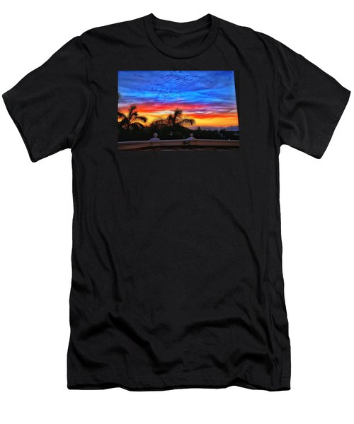 Men's T-Shirt (Slim Fit) featuring the photograph Vibrant Sunset In Mexico by Nikki McInnes