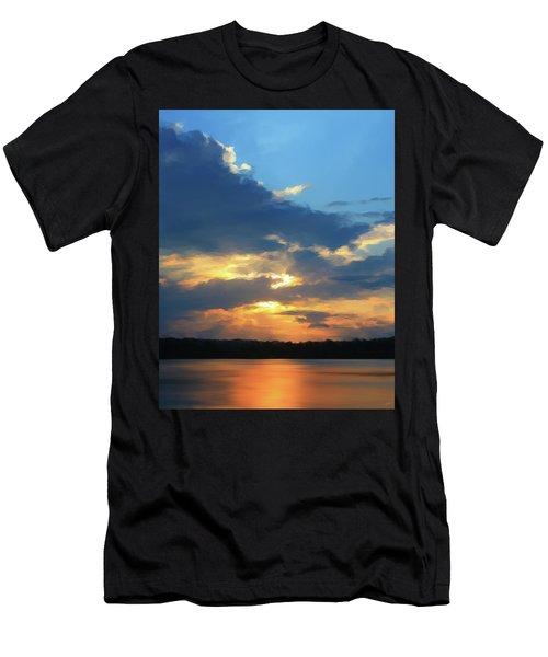 Vibrant Sunset Men's T-Shirt (Athletic Fit)