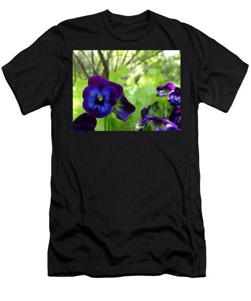 Vibrant Violets In Purple Men's T-Shirt (Athletic Fit)