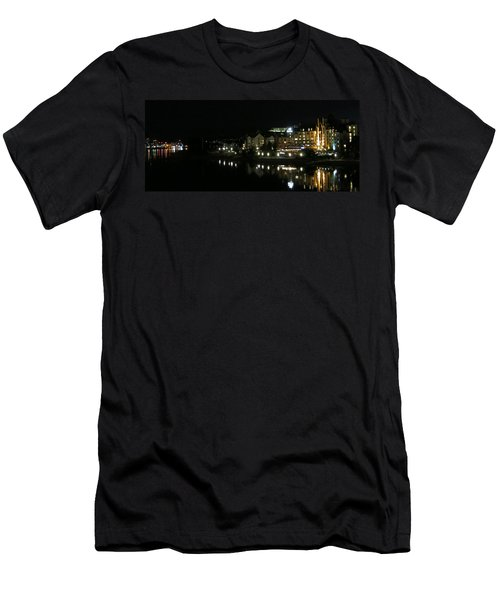 Victoria Harbor Night View Men's T-Shirt (Athletic Fit)