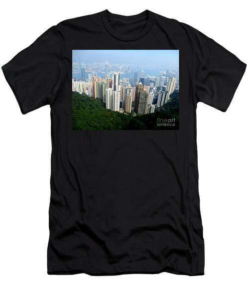 Men's T-Shirt (Slim Fit) featuring the photograph Victoria Peak 1 by Randall Weidner