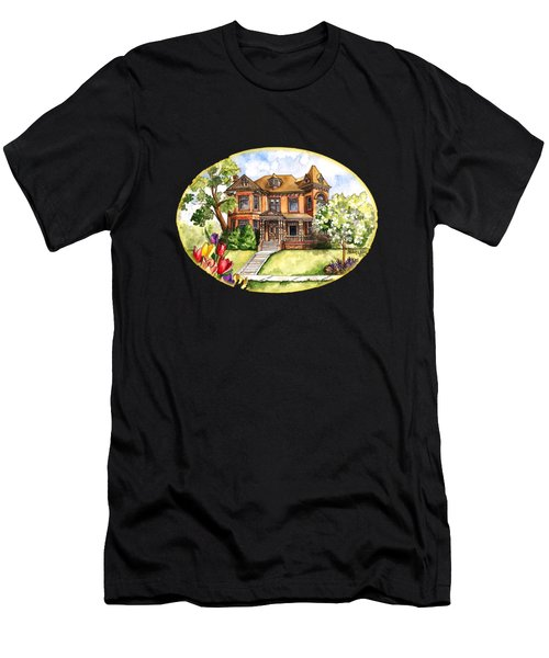 Victorian Mansion In The Spring Men's T-Shirt (Athletic Fit)