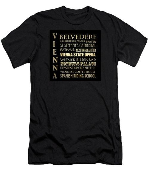 Vienna Austria Famous Landmarks Men's T-Shirt (Athletic Fit)