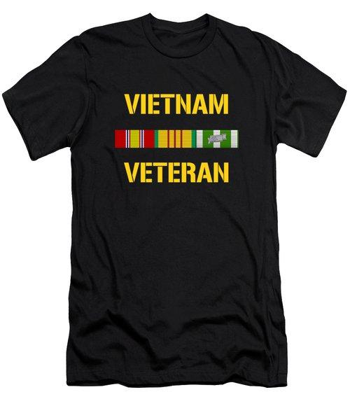 Vietnam Veteran Ribbon Bar  Men's T-Shirt (Athletic Fit)