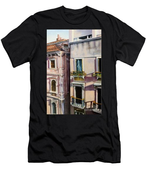 View From A Venetian Window Men's T-Shirt (Athletic Fit)