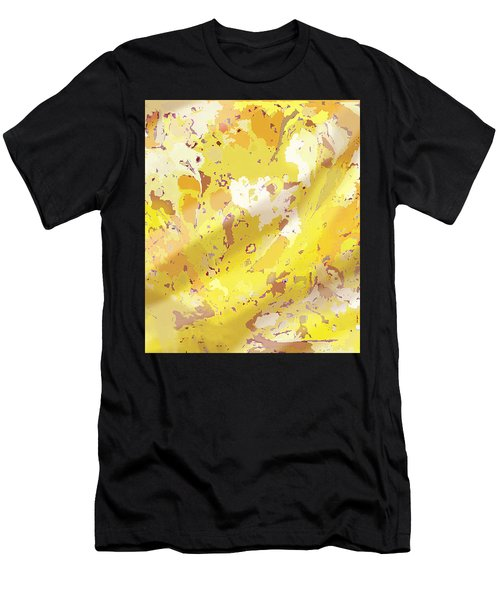 View From Above In Yellow Men's T-Shirt (Athletic Fit)