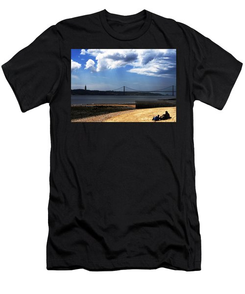 View From Across The Tagus Men's T-Shirt (Slim Fit) by Lorraine Devon Wilke