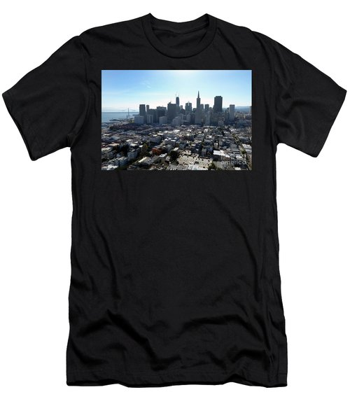View From Coit Tower Men's T-Shirt (Athletic Fit)