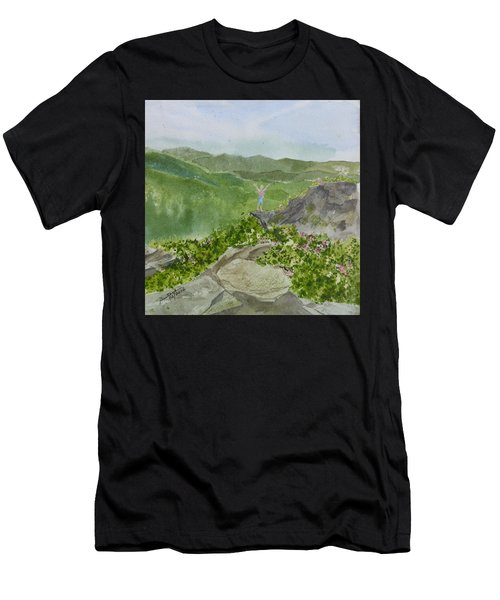 View From Craggy Gardens - A Watercolor Sketch  Men's T-Shirt (Athletic Fit)