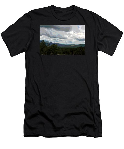 View From Mount Washington IIi Men's T-Shirt (Slim Fit) by Suzanne Gaff