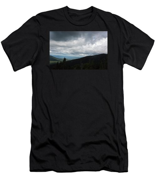 View From Mount Washington  Men's T-Shirt (Slim Fit) by Suzanne Gaff