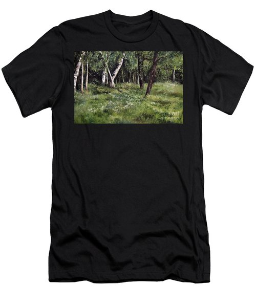 View From My Studio Men's T-Shirt (Slim Fit) by Laurie Rohner