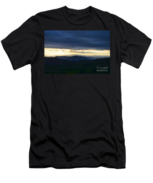 View From Palomar 9633 Men's T-Shirt (Slim Fit) by Sharon Soberon