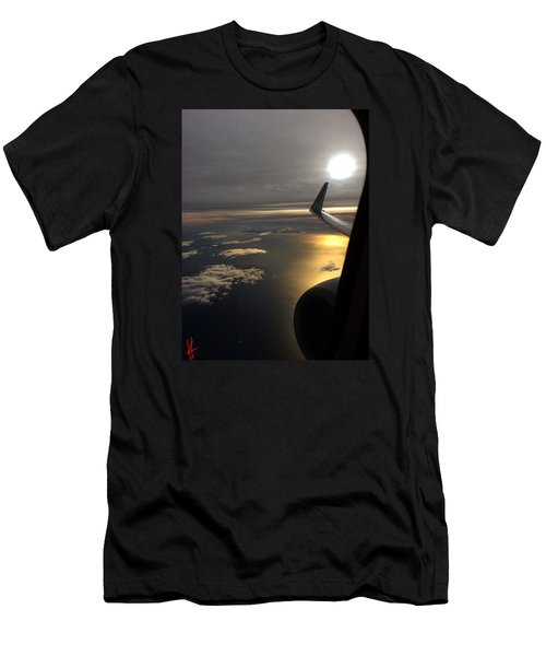View From Plane  Men's T-Shirt (Athletic Fit)