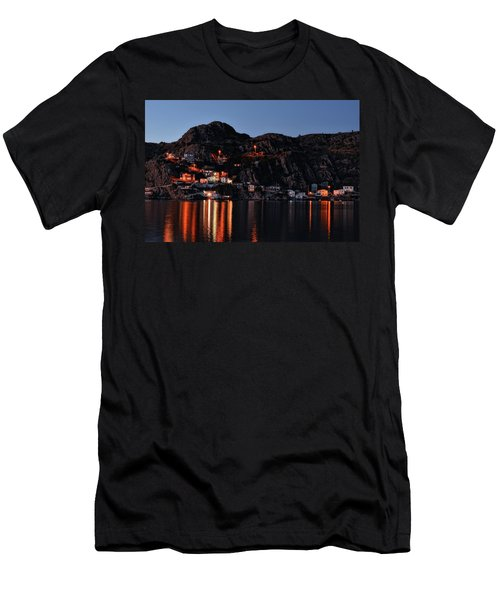 View From The Harbor St Johns Newfoundland Canada At Dusk Men's T-Shirt (Athletic Fit)