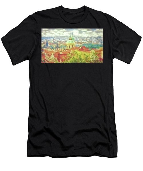 View From The High Ground - Prague  Men's T-Shirt (Athletic Fit)