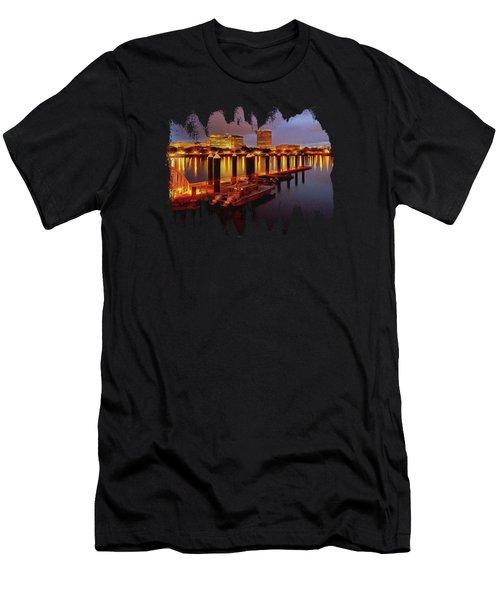 View From The Vera Katz Eastbank Esplanade Men's T-Shirt (Athletic Fit)