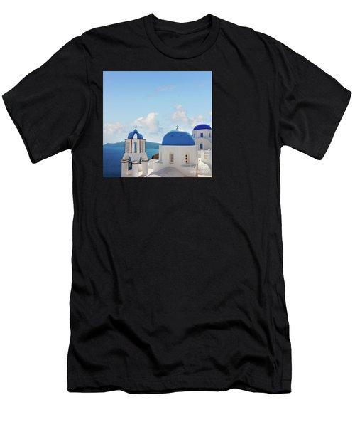 Caldera  Of Santorini Men's T-Shirt (Athletic Fit)