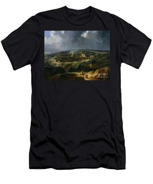 View Of Jerusalem From The Valley Of Jehoshaphat Men's T-Shirt (Athletic Fit)