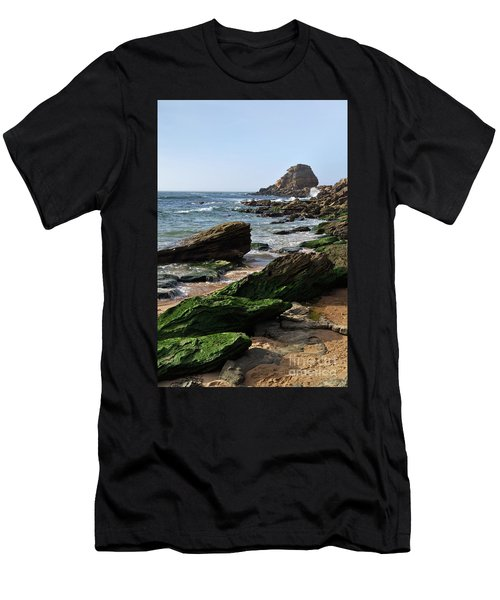 View Of Santa Rita Beach In Torres Vedras Men's T-Shirt (Athletic Fit)