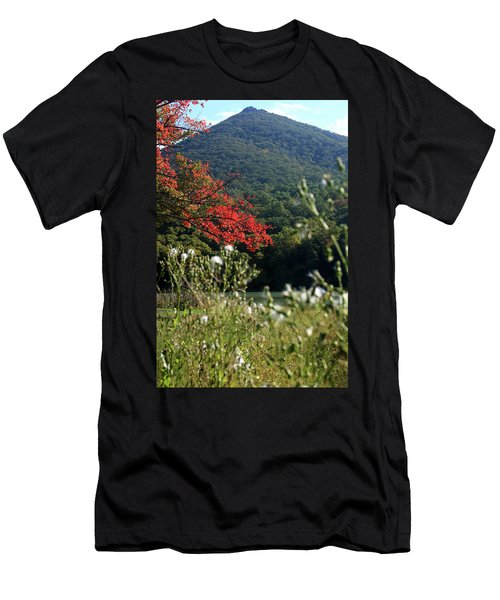 Men's T-Shirt (Slim Fit) featuring the photograph View Of Sharp Top In Autumn by Emanuel Tanjala