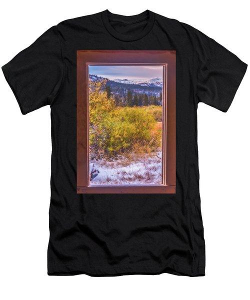 View Out The Frame Of A Broken Window Men's T-Shirt (Athletic Fit)