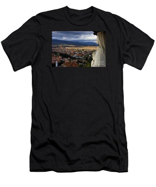 Vigil Over Cuenca From Turi Ecuador Men's T-Shirt (Athletic Fit)