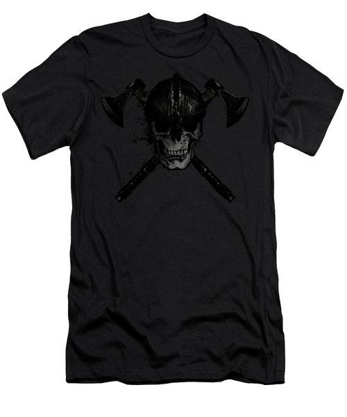 Viking Skull Men's T-Shirt (Athletic Fit)