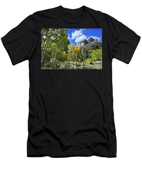 Village Beneath Mt. Charleston Men's T-Shirt (Athletic Fit)
