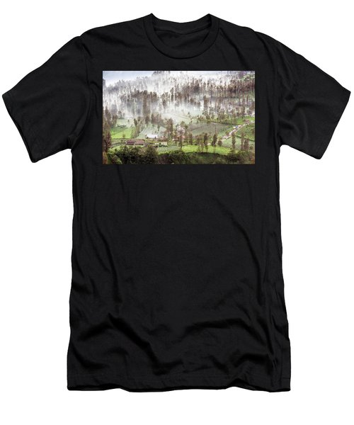 Village Covered With Mist Men's T-Shirt (Athletic Fit)