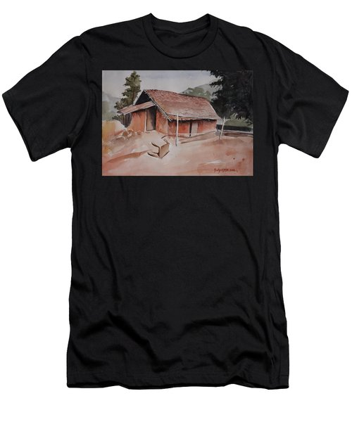 Village Hut Men's T-Shirt (Athletic Fit)