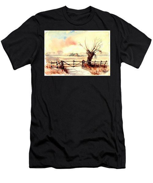 Village Scene IIi Men's T-Shirt (Athletic Fit)