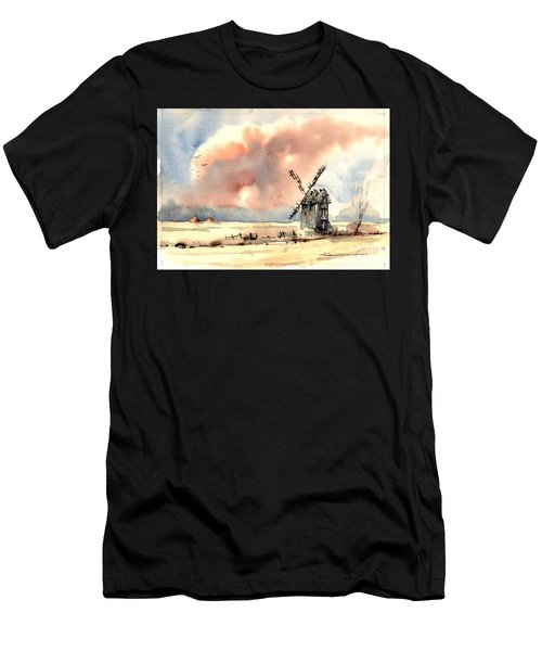 Village Scene Vi Men's T-Shirt (Athletic Fit)