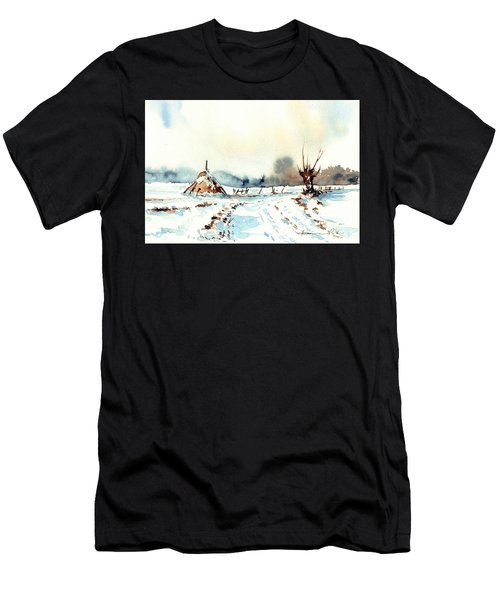 Village Scene Vii Men's T-Shirt (Athletic Fit)