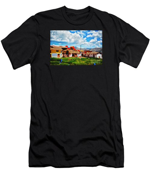 Village Up High In Peruvian Mountains Men's T-Shirt (Athletic Fit)
