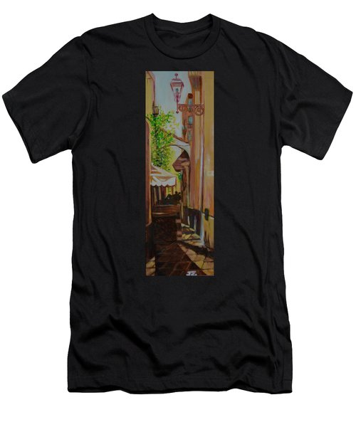 Men's T-Shirt (Slim Fit) featuring the painting Ville Franche 11 by Julie Todd-Cundiff