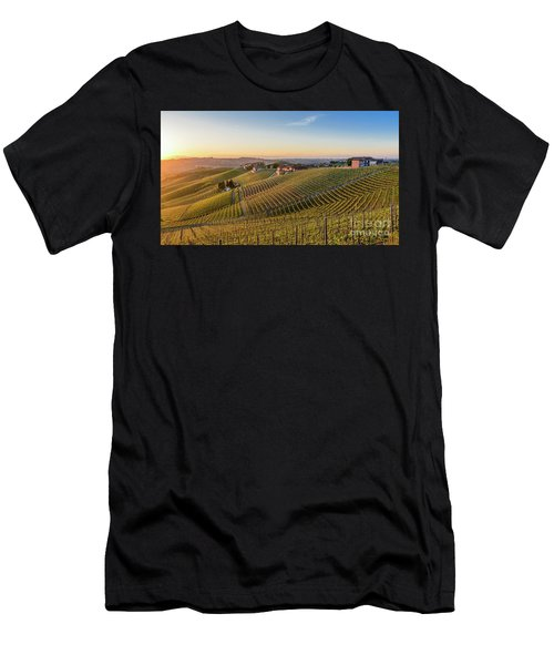 Vineyard At Barbaresco, Italy Men's T-Shirt (Athletic Fit)