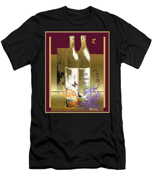 Vin, Fruit, Et Papillons Men's T-Shirt (Athletic Fit)