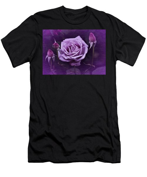 Vintage Aug Purple Rose Men's T-Shirt (Athletic Fit)