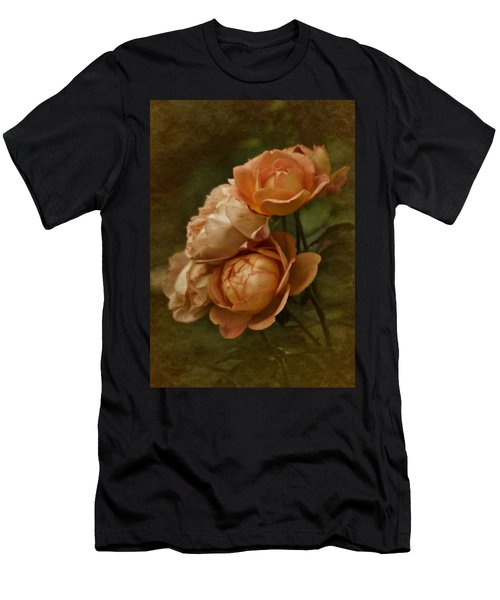 Vintage Aug Roses Men's T-Shirt (Athletic Fit)