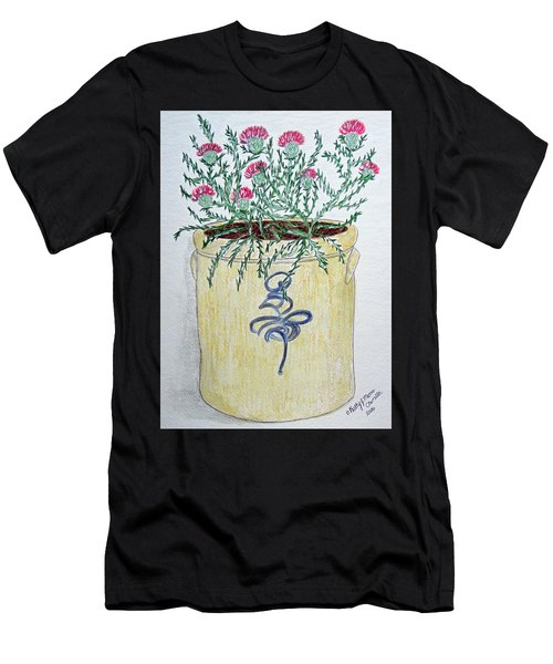 Vintage Bee Sting Crock And Thistles Men's T-Shirt (Athletic Fit)