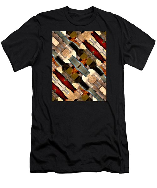 Vintage Bottles Abstract Men's T-Shirt (Athletic Fit)