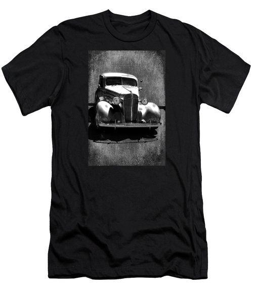 Vintage Car Art 0443 Bw Men's T-Shirt (Slim Fit) by Lesa Fine
