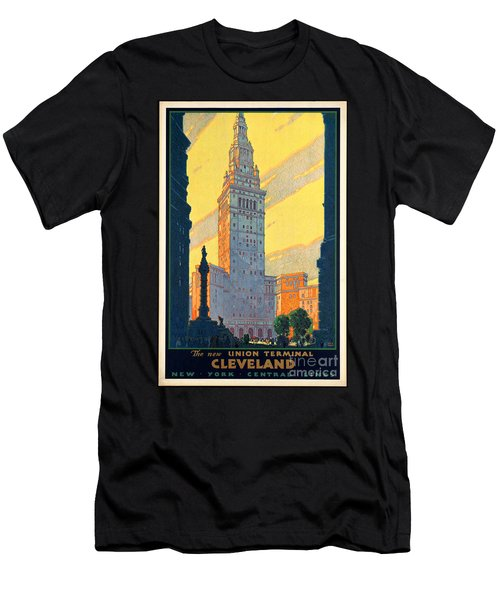 Vintage Cleveland Travel Poster Men's T-Shirt (Athletic Fit)