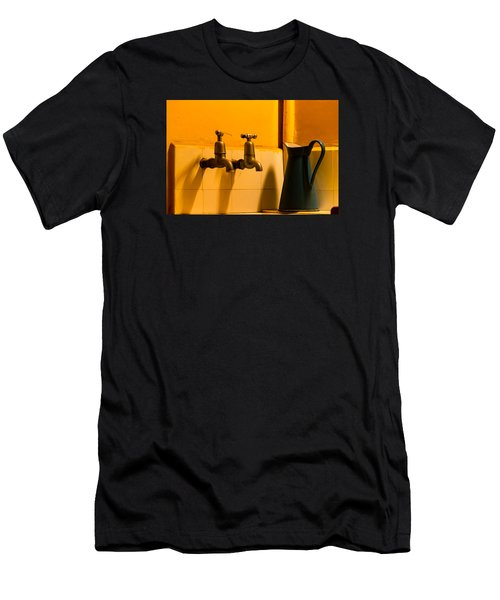 Vintage English Tap Water With Watering Can Men's T-Shirt (Athletic Fit)