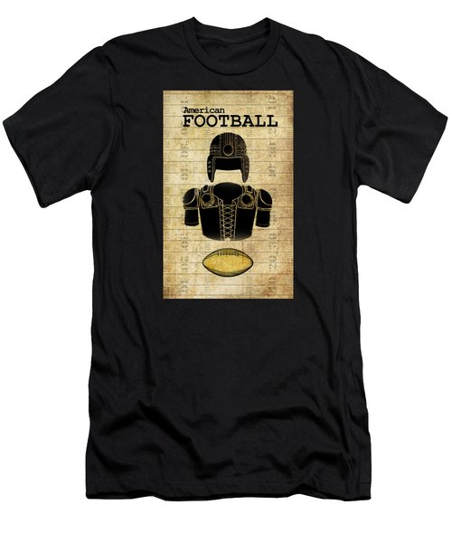 Vintage Football Print Men's T-Shirt (Slim Fit) by Greg Sharpe