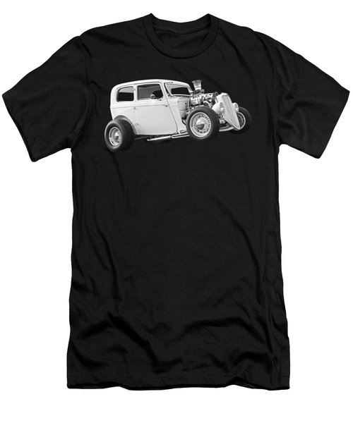 Vintage Ford Hot Rod In Black And White Men's T-Shirt (Athletic Fit)