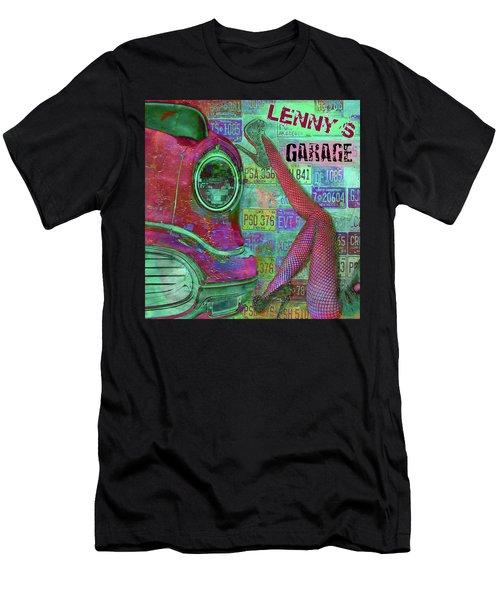 Vintage Garage Print Men's T-Shirt (Athletic Fit)