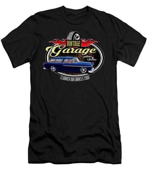 Vintage Garage With Nomad Men's T-Shirt (Athletic Fit)