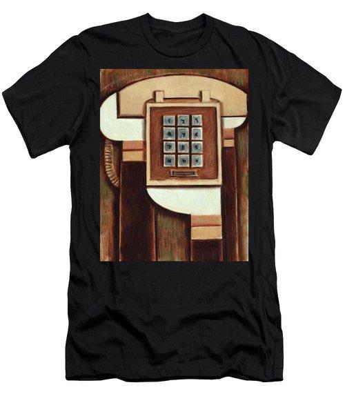 Tommervik Vintage Landline Phone Art Print Men's T-Shirt (Athletic Fit)